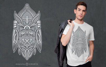 Design de camiseta com a runa Odin