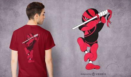 Diseño de camiseta ninja ninjaken