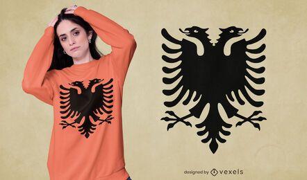 Design de t-shirt de águia de duas cabeças