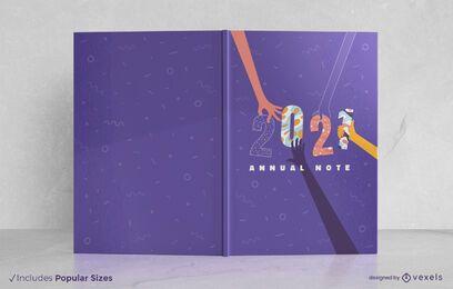 Design da capa do livro de 2021
