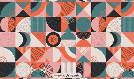 Diseño de patrón geométrico plano