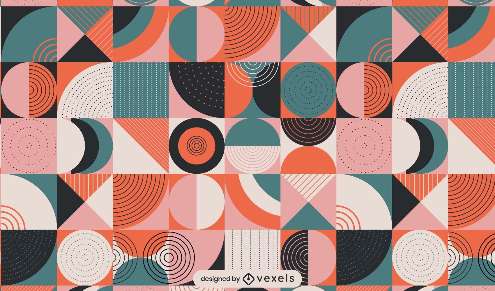Flat geometric pattern design