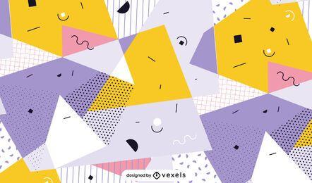 Diseño de patrón de formas geométricas abstractas