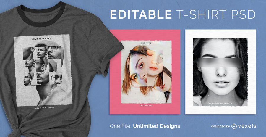 Mosaic scalable t-shirt psd