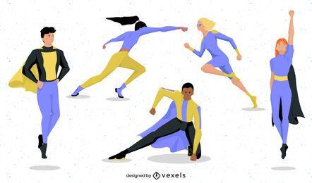 Superhéroe plantea diseño de conjunto de personajes