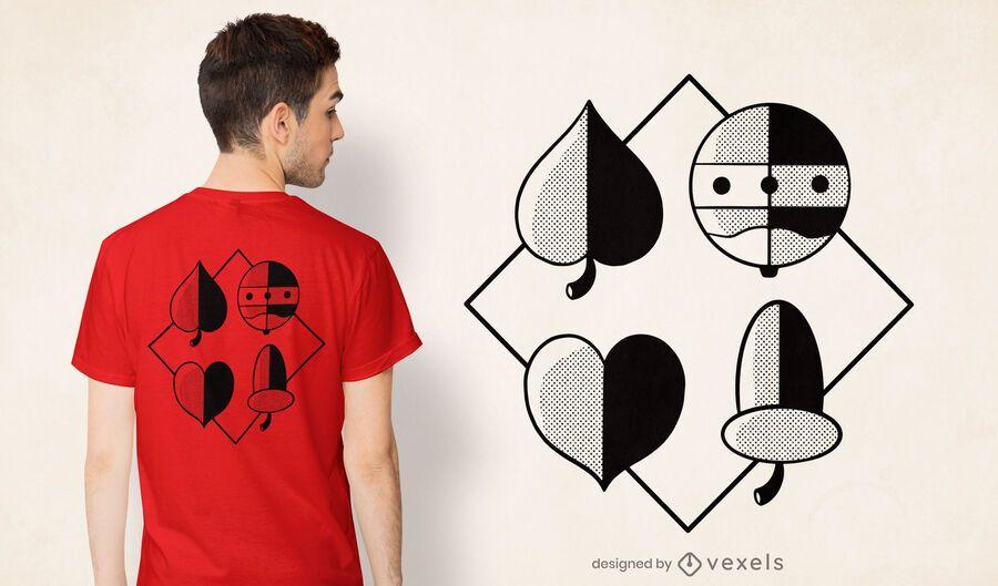German playing card symbols t-shirt design