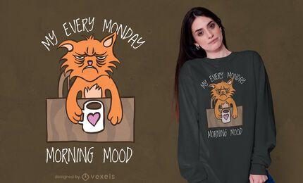 Design de camisetas mood para todas as segundas-feiras