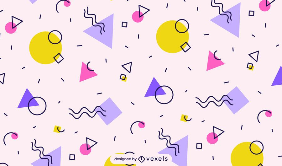 Colorful shapes pattern design