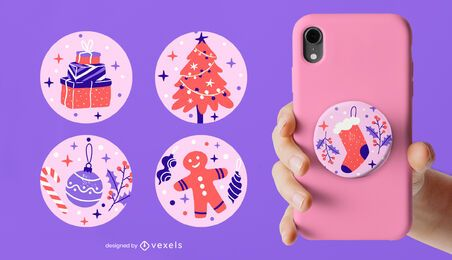 Christmas popsocket set