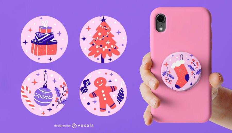 Christmas popsocket set