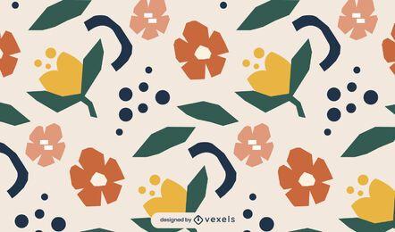 Diseño de patrón floral geométrico