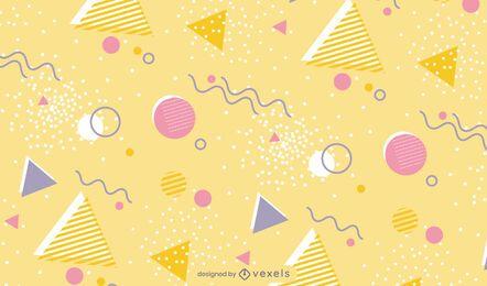 Desenho de padrões de formas e linhas