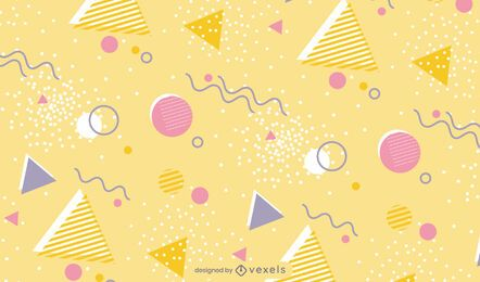 Shapes and lines pattern design