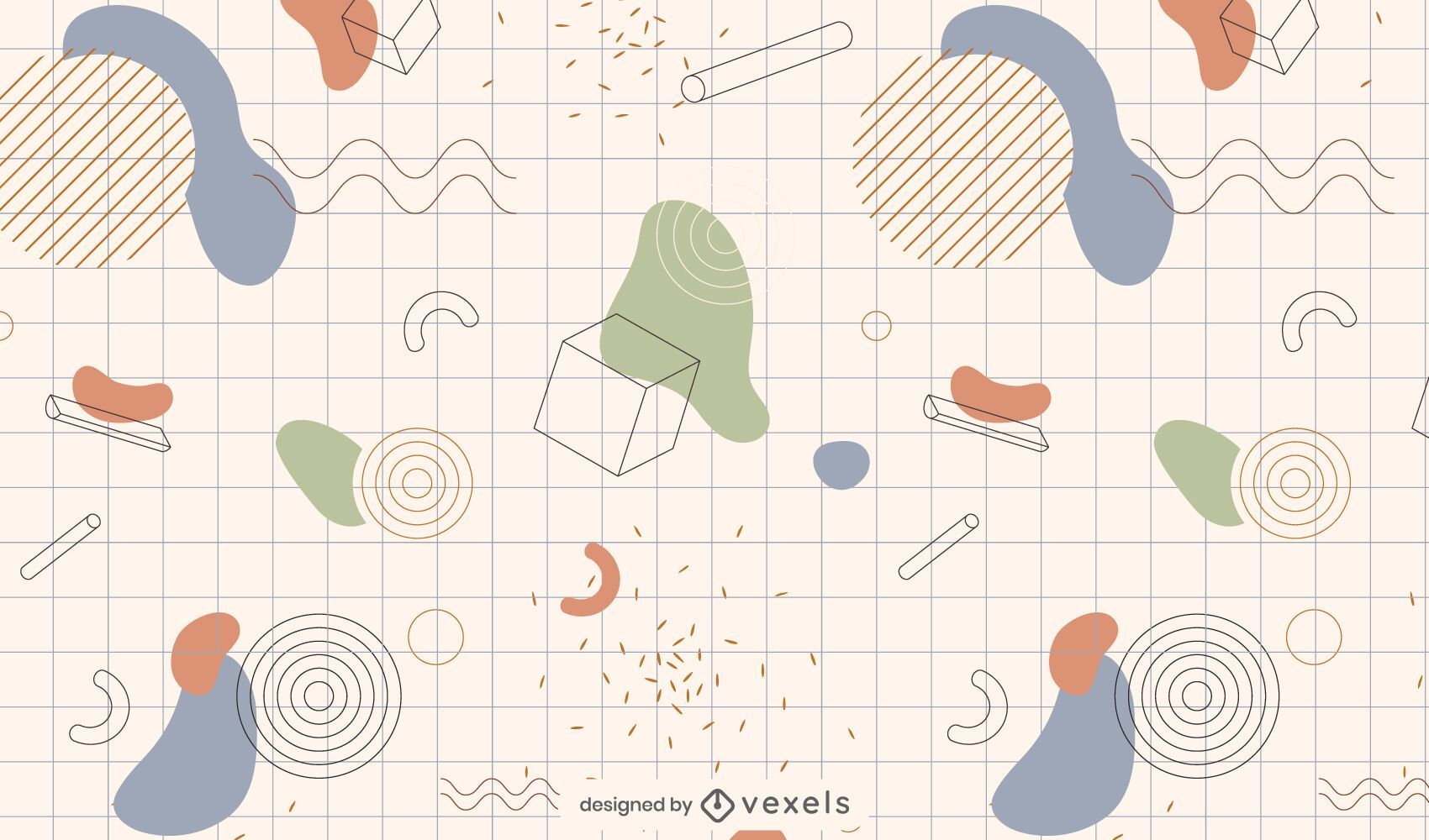 Abstract forms pattern design