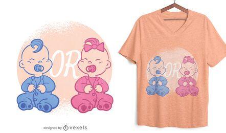 Diseño de camiseta de revelación de género