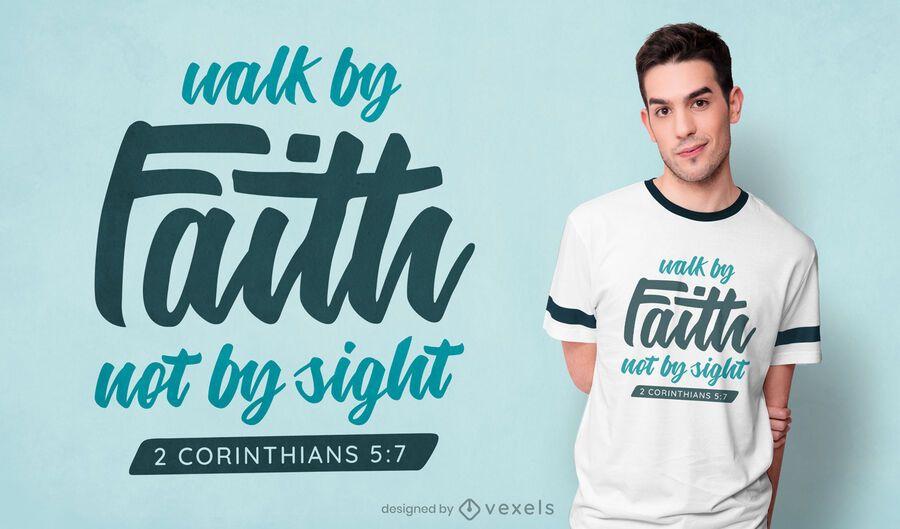 Design de camisetas Walk by Faith