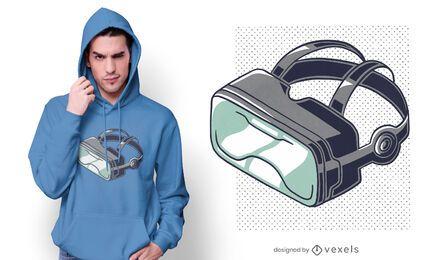 Design de camiseta dos óculos VR