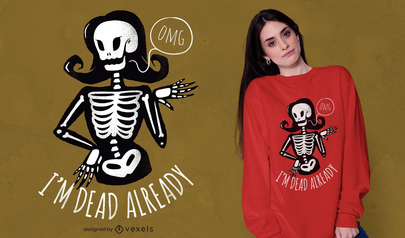 Ya estoy muerto diseño de camiseta