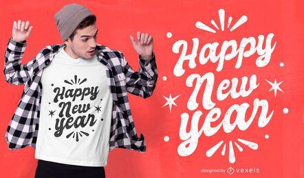 Design de t-shirt de feliz ano novo