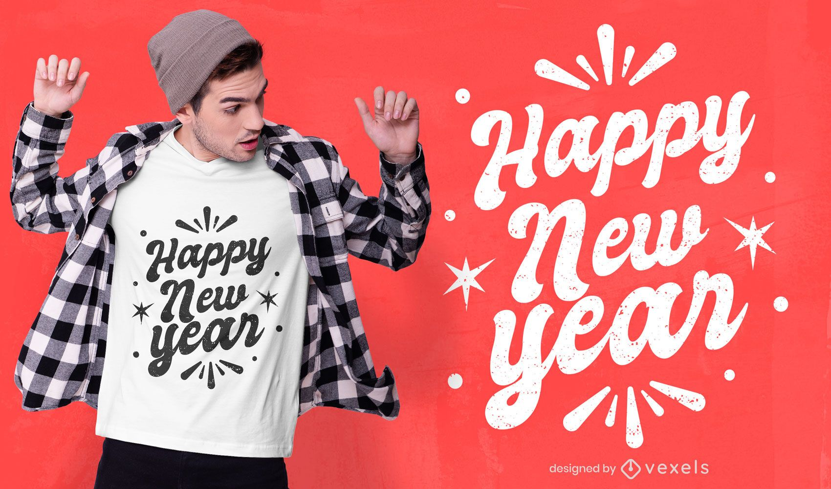 Happy new year t-shirt design