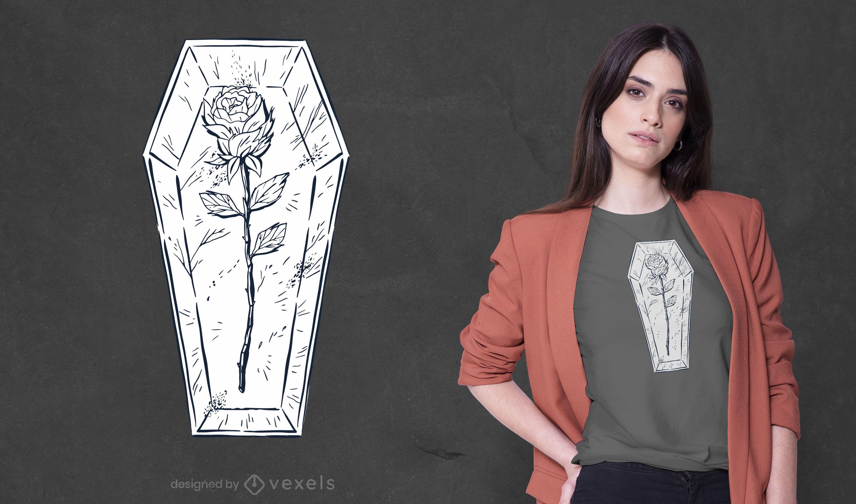 Rose coffin t-shirt design