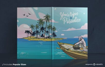 Design da capa do livro Viagens ao paraíso