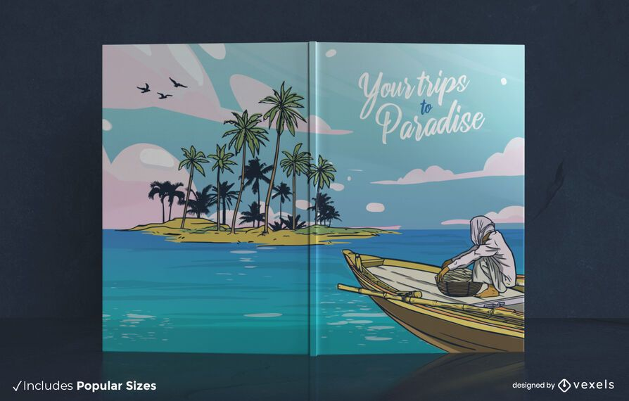 Trips to paradise book cover design