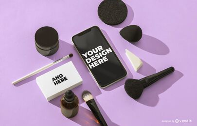 Iphone kosmetische Modellzusammensetzung