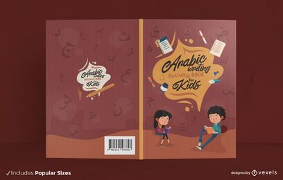 Arabic activity book cover design