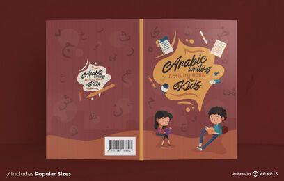 Diseño de portada de libro de actividades árabe