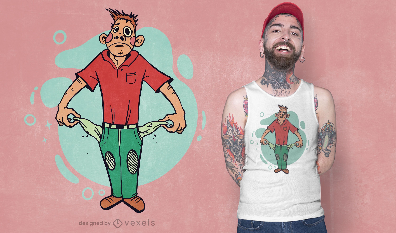 Broke man t-shirt design