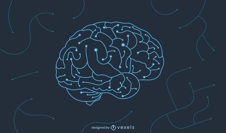 Brain circuit illustration design