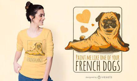 Model pug t-shirt design