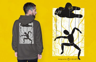 Design de camiseta de titereiro