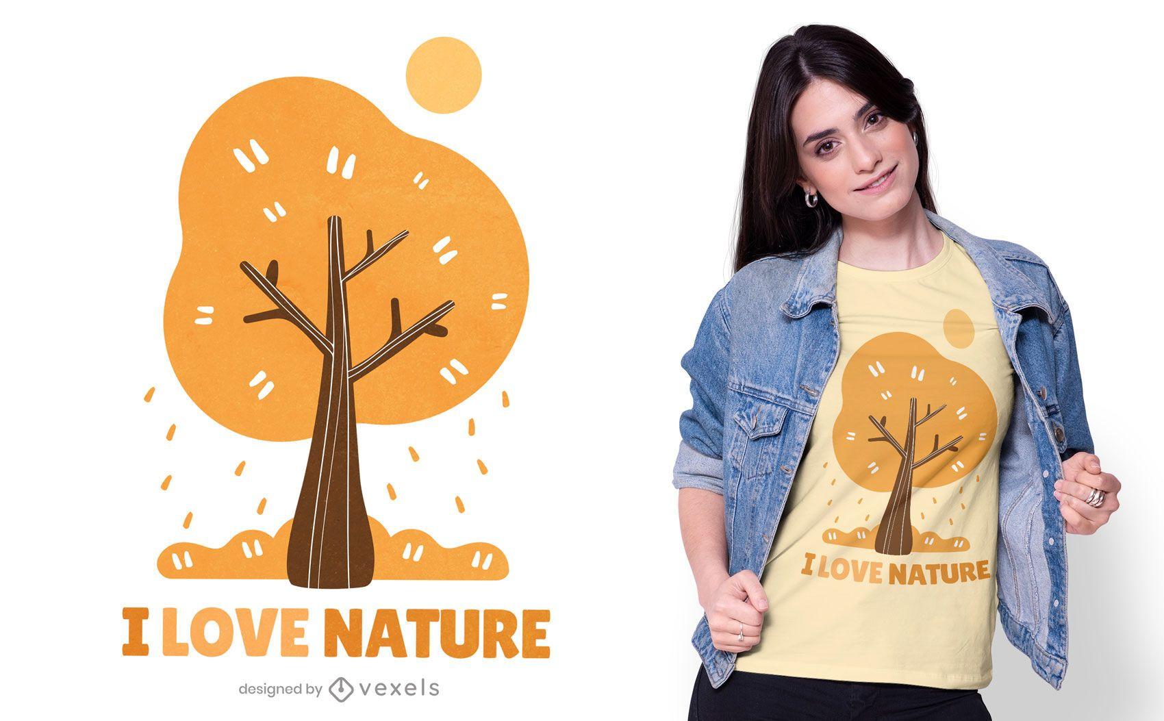 I love nature t-shirt design