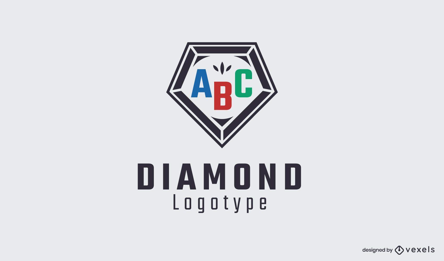 Modelo de logotipo Diamond