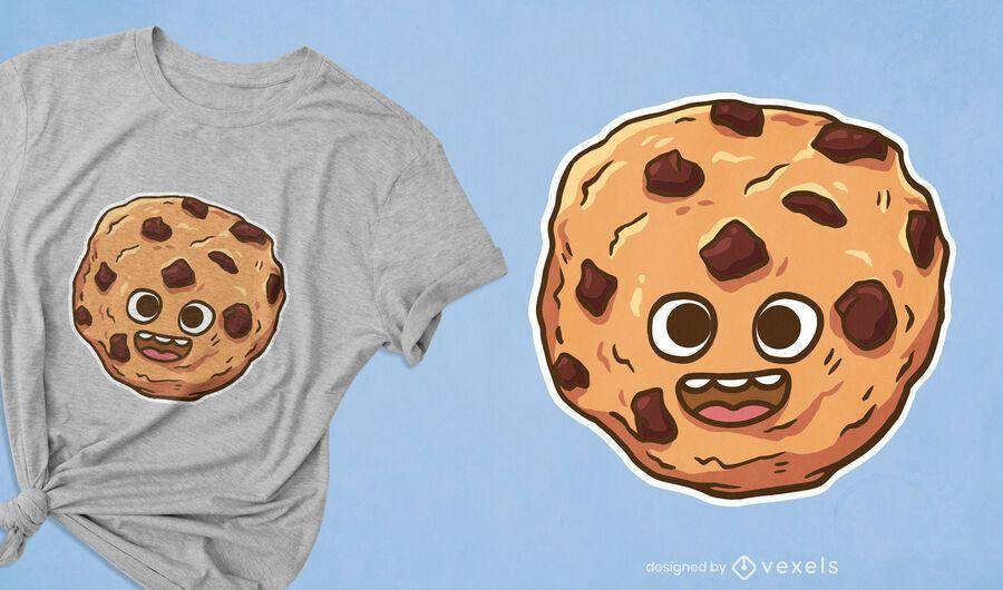 Design fofo de camiseta de biscoito
