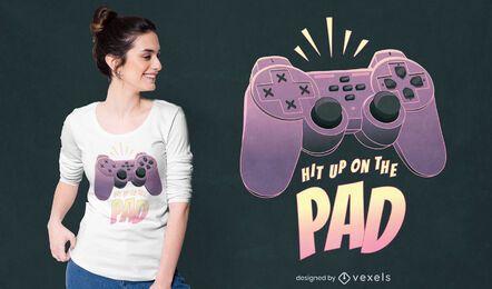 Design de camiseta com citação de joystick