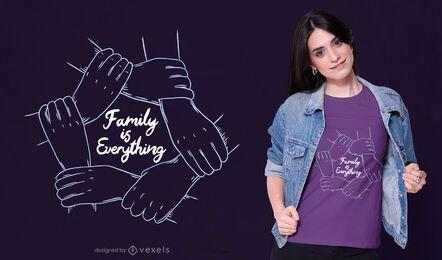Família é tudo design de camisetas