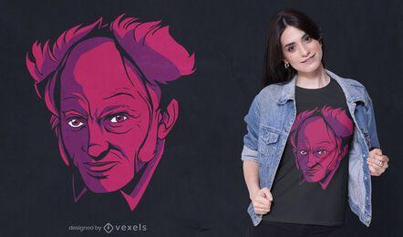 Diseño de camiseta de Arthur Schopenhauer