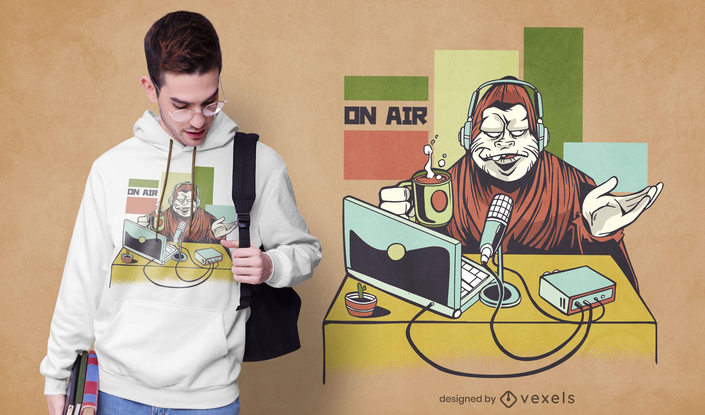 Diseño de camiseta de podcast Yeti