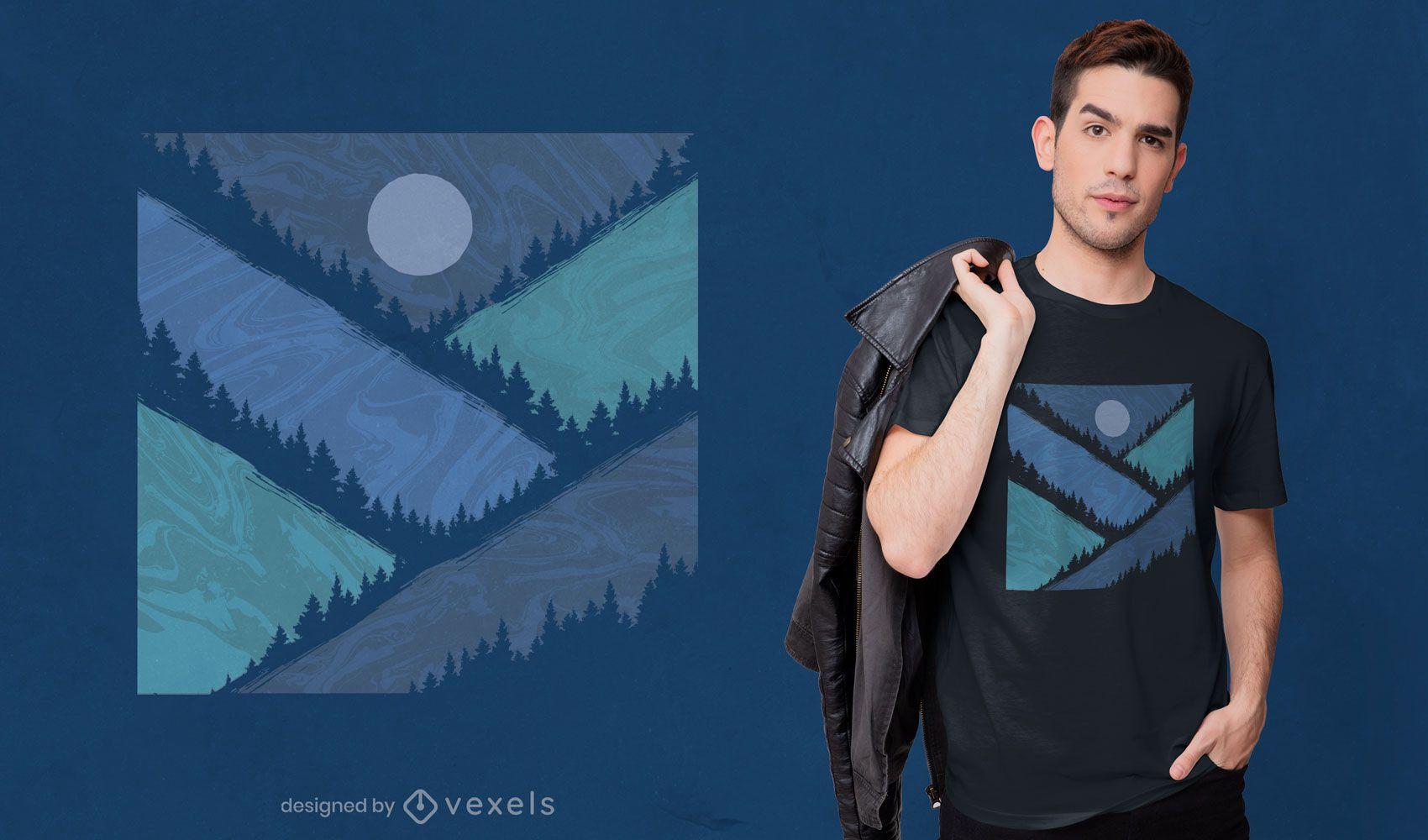 Geometric mountains t-shirt design