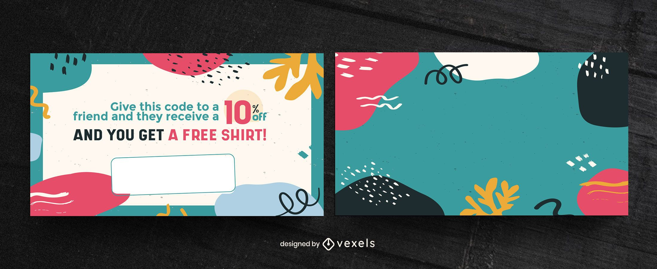 Discount gift card template