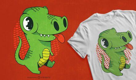 Lindo diseño de camiseta de dinosaurio bebé