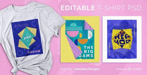 Diseño de camiseta de origami psd