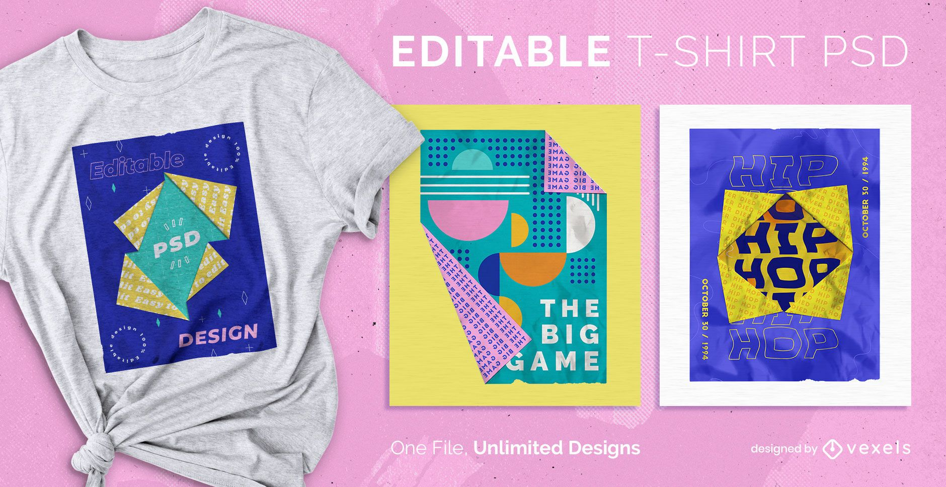 Origami t-shirt design psd