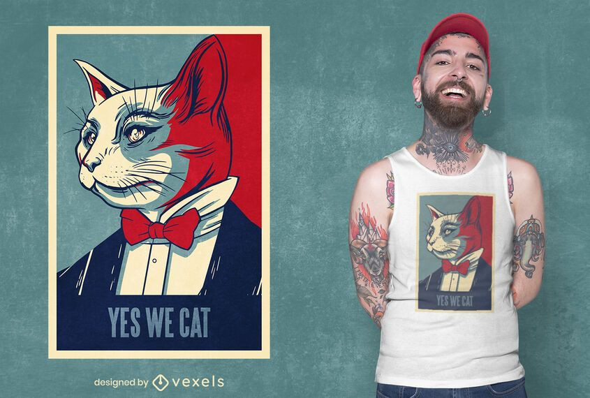 Yes we cat t-shirt design