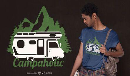 Design de camiseta campaholic