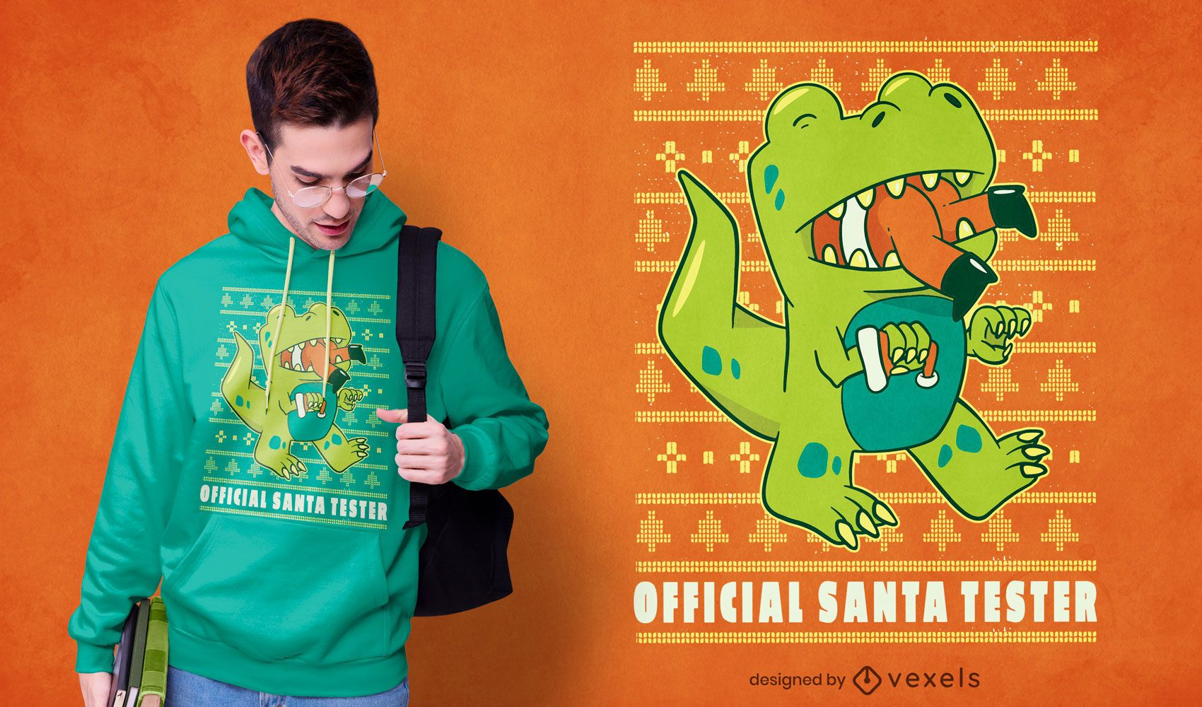 Official santa tester t-shirt design