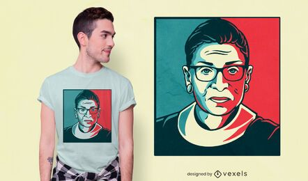 Design de camiseta Ruth Bader